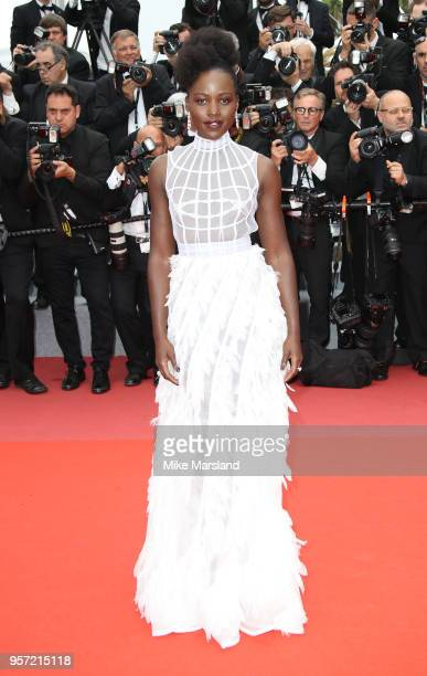 Lupita Nyong'o attends the screening of 'Sorry Angel ' during the 71st annual Cannes Film Festival at Palais des Festivals on May 10 2018 in Cannes...