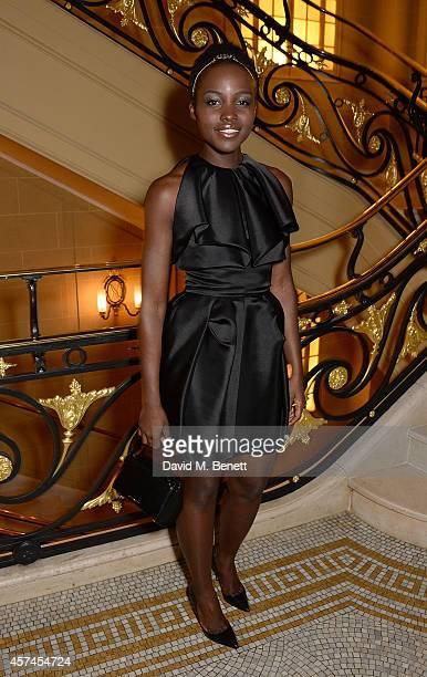 Lupita Nyong'o attends the Sindika Dokolo Art Foundation dinner at Cafe Royal on October 18 2014 in London England
