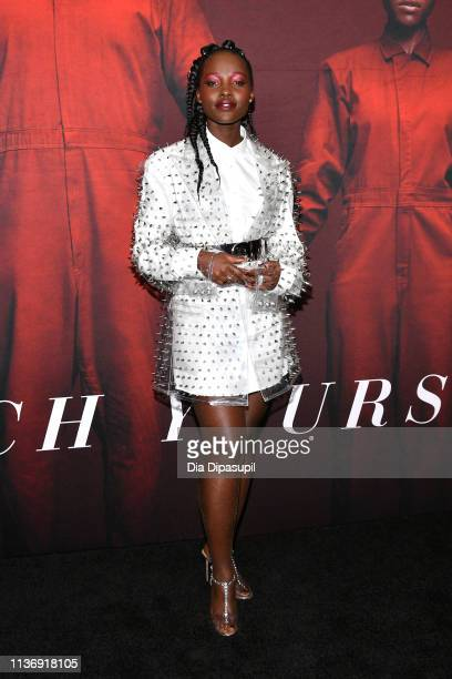 """Lupita Nyong'o attends the """"US"""" New York Premiere at The Museum of Modern Art on March 19, 2019 in New York City."""