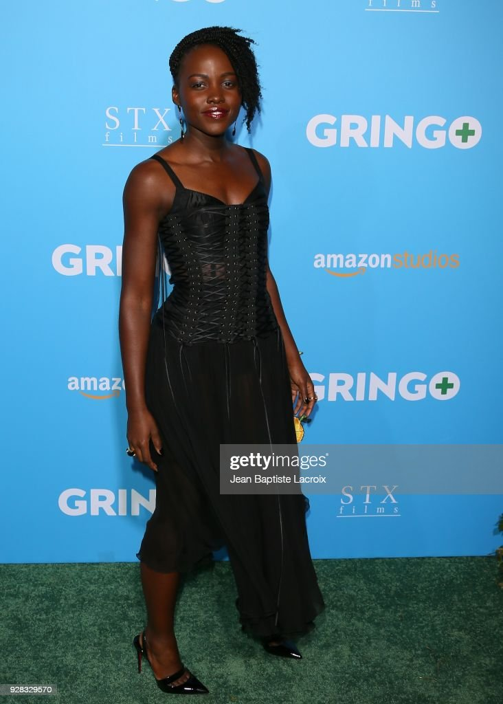 Lupita Nyong'o attends the world premiere of 'Gringo' from Amazon Studios and STX Films at Regal LA Live Stadium 14 on March 6, 2018 in Los Angeles, California.