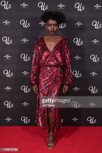 Lupita Nyong'o attends UK exclusive screening of Us at Picturehouse Central on March 14 2019 in London England