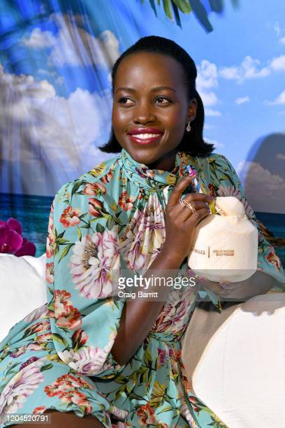 Lupita Nyong'o Celebrates The Relaunch Of The Delta SkyMiles® American Express Cards at Helen Mills Event Space on February 06 2020 in New York City