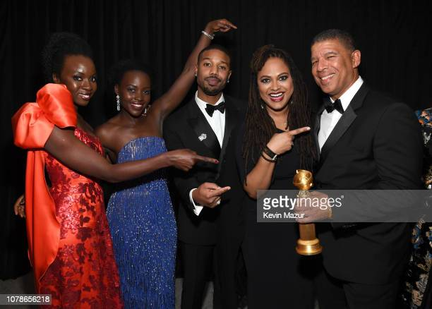 Lupita Nyong'o Danai Gurira Michael B Jordan Ava DuVernay and Peter Ramsey attend the 2019 InStyle and Warner Bros 76th Annual Golden Globe Awards...