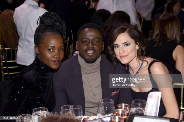 Lupita Nyong'o Daniel Kaluuya and Allison Williams attend the The National Board Of Review Annual Awards Gala at Cipriani 42nd Street on January 9...