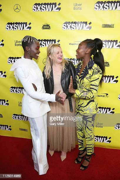 "Lupita Nyong'o, Elisabeth Moss and Shahadi Wright Joseph attend the premiere of ""Us"" at the Paramount Theater during the 2019 SXSW Conference And..."