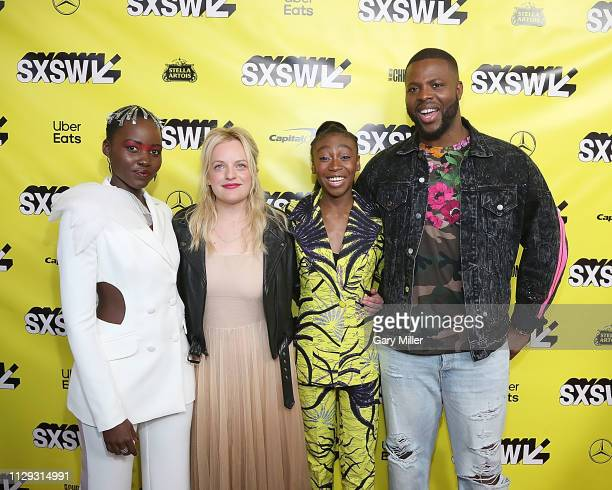 "Lupita Nyong'o, Elisabeth Moss, Shahadi Wright Joseph and Winston Duke attend the premiere of ""Us"" at the Paramount Theater during the 2019 SXSW..."