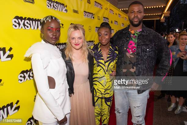 "Lupita Nyong'o, Elisabeth Moss, Shahadi Wright Joseph, and Winston Duke attends the ""Us"" Premiere 2019 SXSW Conference and Festivals at Paramount..."