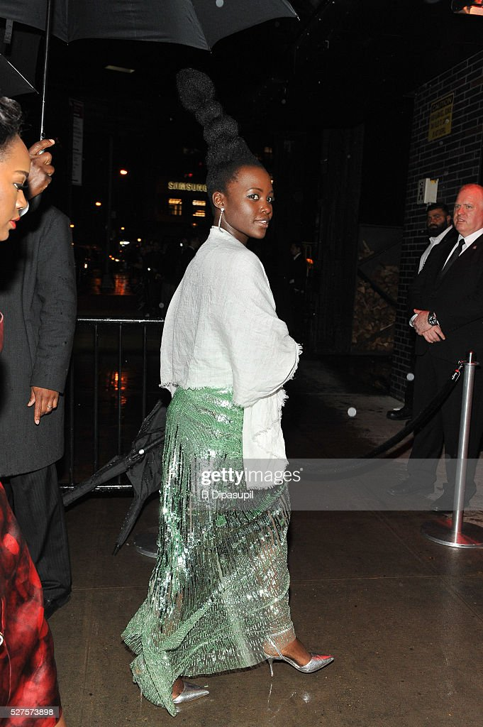 Lupita Nyong'o is seen arriving at The Standard High Line on May 2, 2016 in New York City.