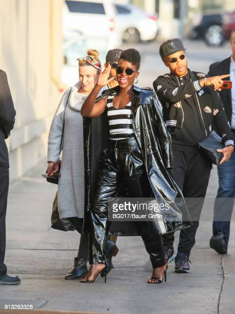 Lupita Nyong'o is seen at 'Jimmy Kimmel Live' on February 01 2018 in Los Angeles California