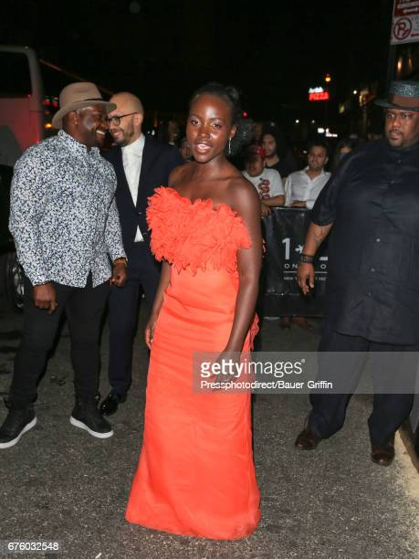 Lupita Nyong'o is seen attending the Rei Kawakubo/Comme des Garcons Art Of The InBetween' Costume Institute Gala After Party on May 01 2017 in New...