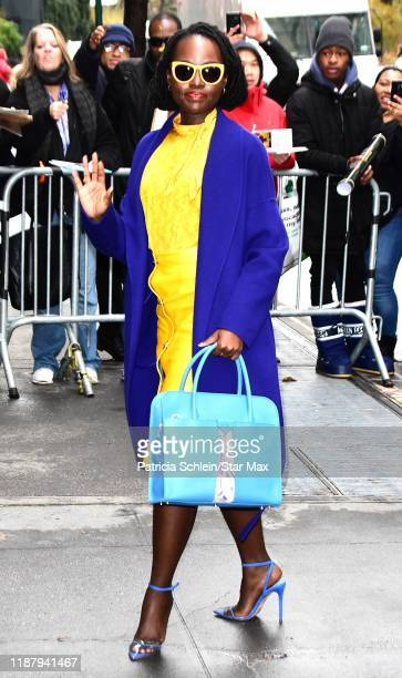 Lupita Nyong'o is seen on December 11 2019 in New York City