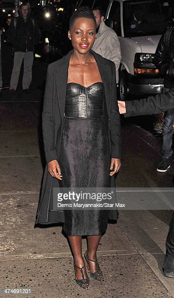 Lupita Nyong'o is seen on February 19 2014 in New York City