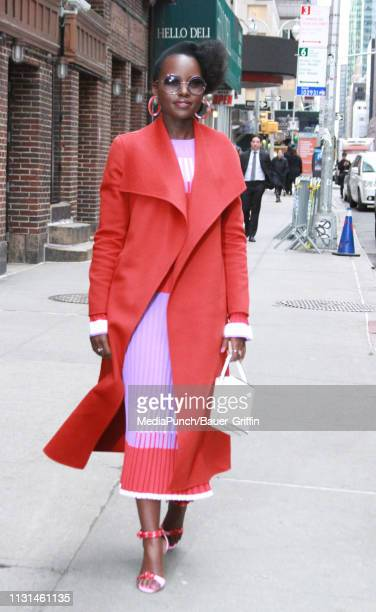 Lupita Nyong'o is seen on March 18, 2019 in New York City.