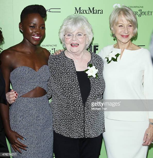 Lupita Nyong'o June Squibb and Helen Mirren arrive at the 7th Annual Women In Film PreOscar cocktail party held at Fig Olive Melrose Place on...