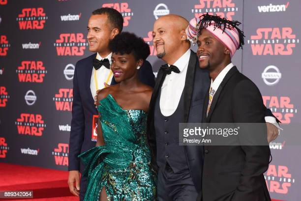Lupita Nyong'o Peter Nyong'o and guests attend Premiere Of Disney Pictures And Lucasfilm's 'Star Wars The Last Jedi' Arrivals at The Shrine...