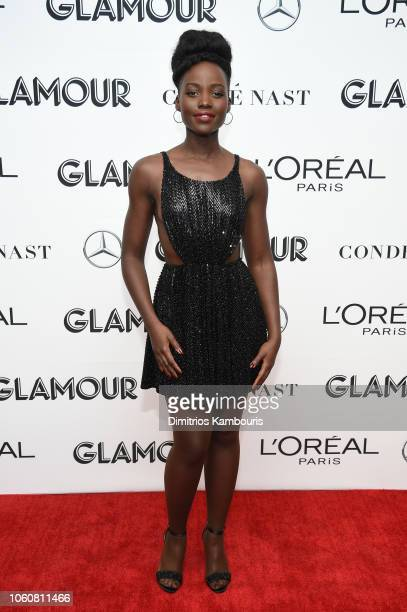 Lupita Nyong'o poses backstage at the 2018 Glamour Women Of The Year Awards Women Rise on November 12 2018 in New York City