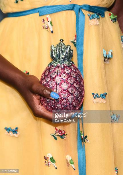 Lupita Nyong'o purse detail attends the 22nd Annual Accessories Council ACE Awards at Cipriani 42nd Street on June 11 2018 in New York City
