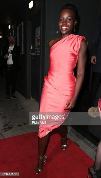 Lupita Nyong'o seen attending a fashion party at MNKY HSE in Mayfair during LFW February 2018 on February 19 2018 in London England