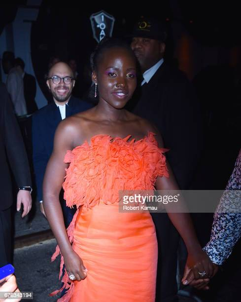 Lupita Nyong'o seen out in Manhattan after MET Gala on May 1 2017 in New York City