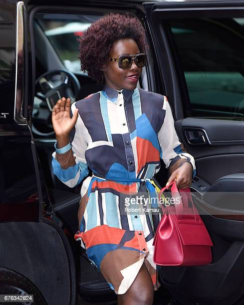 Lupita Nyong'o seen out in Manhattan before MET Gala on May 1 2017 in New York City