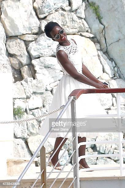 Lupita Nyong'o sighted in Cap d'Antibes on May 14 2015 in Cannes France