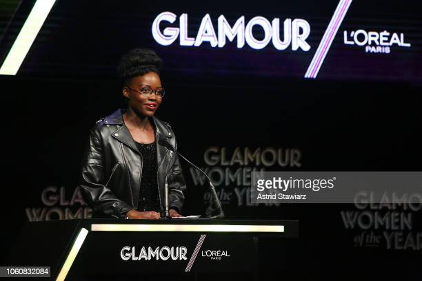 Lupita Nyong'o speaks onstage at the 2018 Glamour Women Of The Year Awards Women Rise on November 12 2018 in New York City