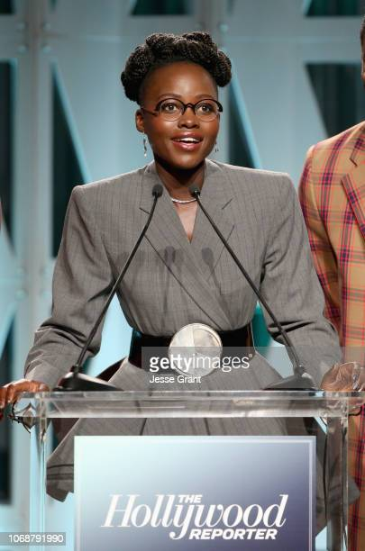 Lupita Nyong'o speaks onstage during The Hollywood Reporter's Power 100 Women In Entertainment at Milk Studios on December 5 2018 in Los Angeles...