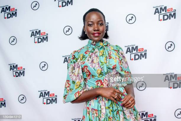 """Lupita Nyong'o visits BuzzFeed's """"AM To DM"""" on February 06, 2020 in New York City."""