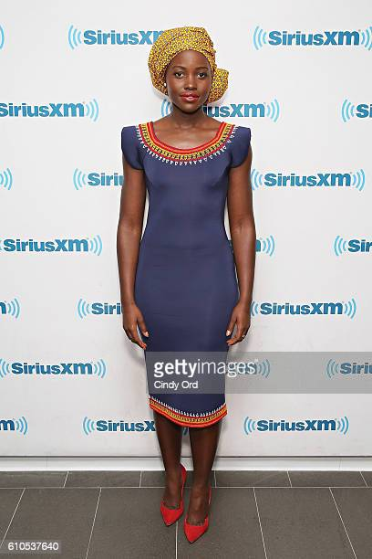 Lupita Nyong'o visits the SiriusXM Studios on September 26 2016 in New York City