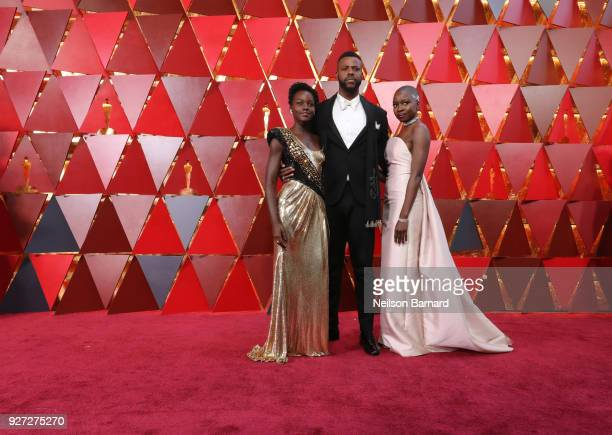 Lupita Nyong'oWinston Duke and Danai Gurira attend the 90th Annual Academy Awards at Hollywood Highland Center on March 4 2018 in Hollywood California