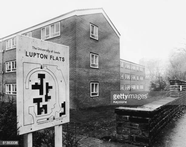Lupton Flats in Leeds, home of Jacqueline Hill, the 13th and last victim of serial killer Peter Sutcliffe, the 'Yorkshire Ripper', 26th November...