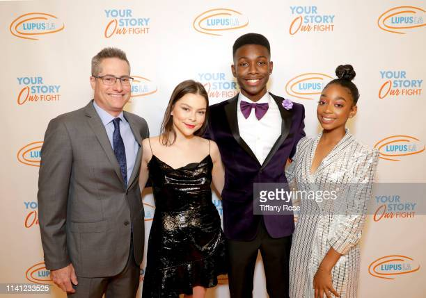 Lupus LA Chairman Adam Selkowitz Hannah Zeile Niles Fitch and Eris Baker attend the Lupus LA 2019 Orange Ball at the Beverly Wilshire Hotel on May 4...