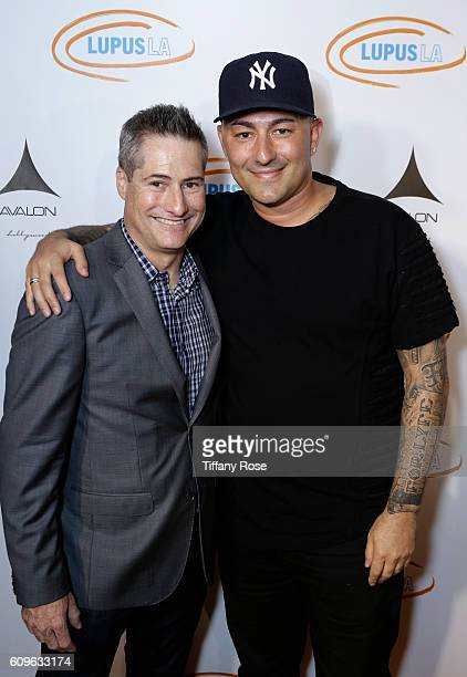 Lupus LA Chairman of the Board Adam Selkowitz and msuician Dennis DeSantis attend the Get Lucky for Lupus LA Celebrity Poker Tournament at Avalon on...
