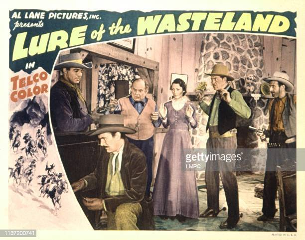Lure Of The Wasteland, lobbycard, LeRoy Mason, Karl Hackett, Henry Roquermore, Marion Arnold, Tom London, 1939.
