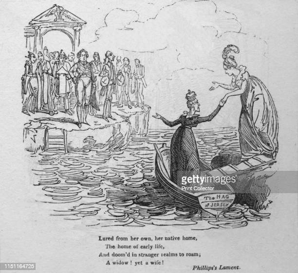 Lured from her own her native home the home of early life and doom'd in stranger realms to roam a widow Yet a wife Phillips's Lament' circa 1820...