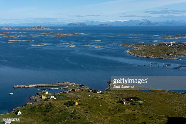 lurøy  island - coastline stock pictures, royalty-free photos & images