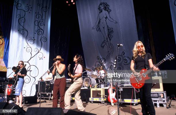 Luscious Jackson performs at Lilith Fair 1999 at Shoreline Amphitheatre on July 14, 1999 in Mountain View California.