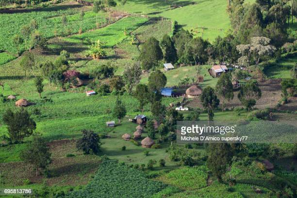 lush countryside in the rift valley escarpment - escarpment stock pictures, royalty-free photos & images