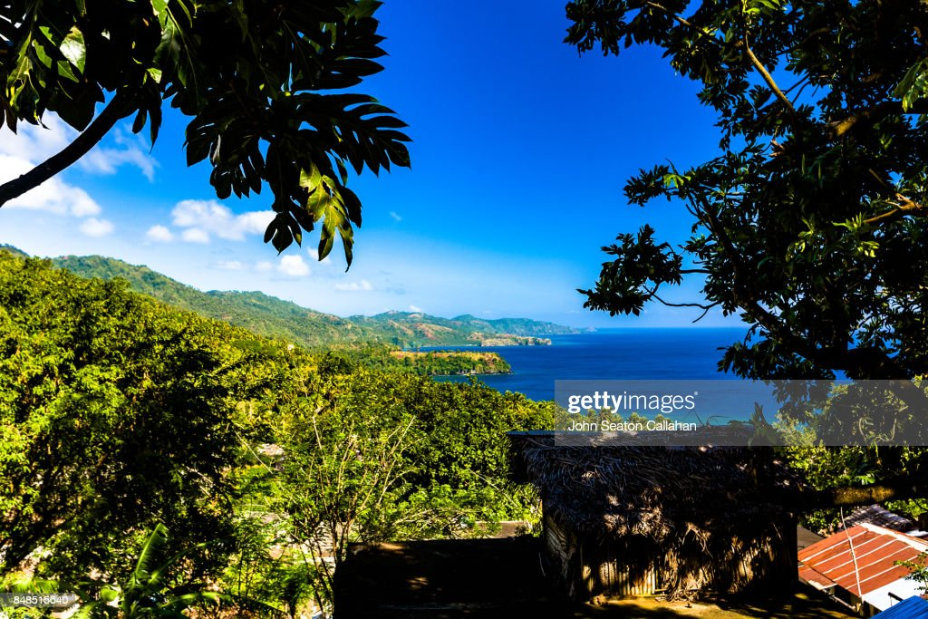 Lush Countryside on Anjouan Island : Stock Photo