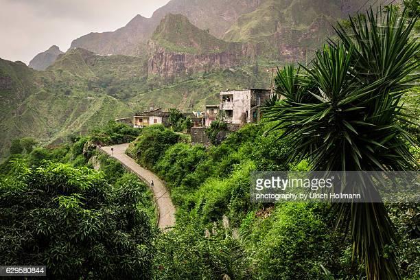 Lush green Paul Valley, Santo Antao, Cape Verde