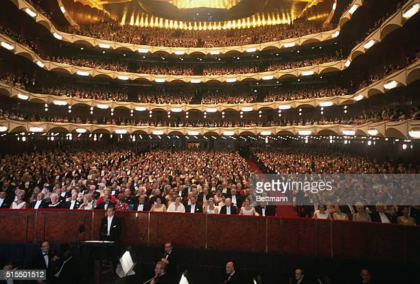 Lush red carpet, 163 feet long and seven feet wide, was the path traveled to enter the new Metropolitan opera house, which opened September 16th. A...