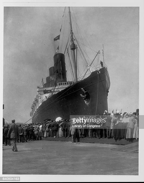 Lusitania Arriving in New York for First Time September 13 1907