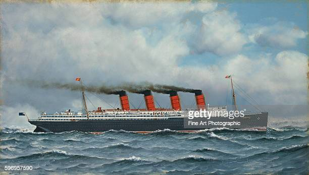 SS Lusitania by Antonio Jacobsen
