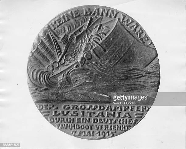 Lusitania Medal Issued by German Jeweller and then used by British ap propaganda tool