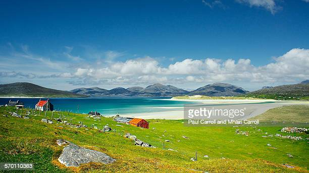 luskentyre - isle of harris - western isles stock pictures, royalty-free photos & images