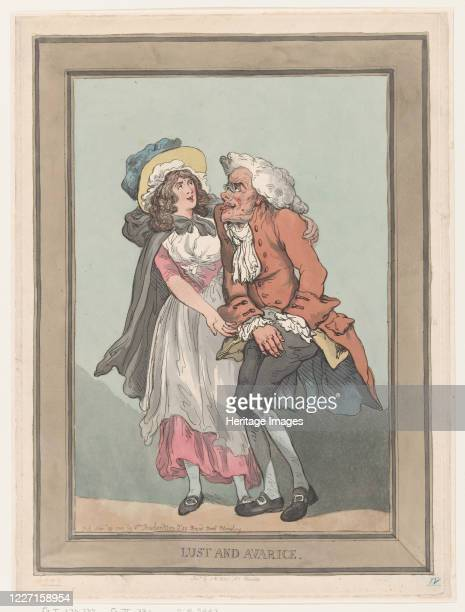 Lust and Avarice November 29 1788 Artist Thomas Rowlandson