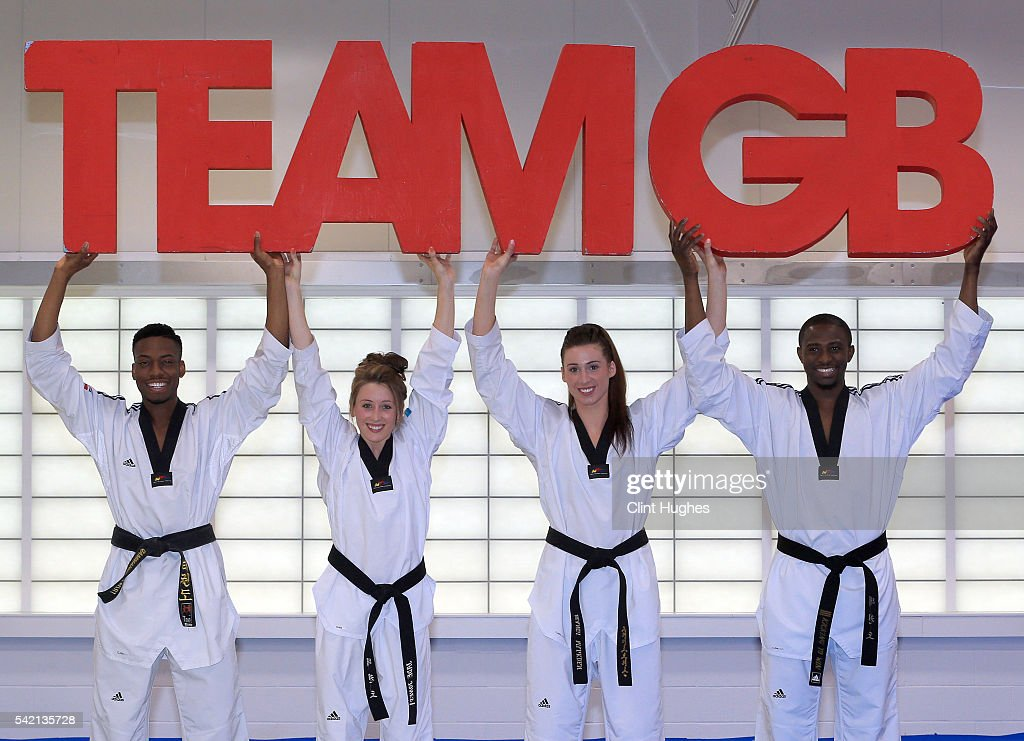 Announcement of Taekwondo Athletes Named in Team GB for the Rio 2016 Olympic Games - National Taekwondo Centre : News Photo