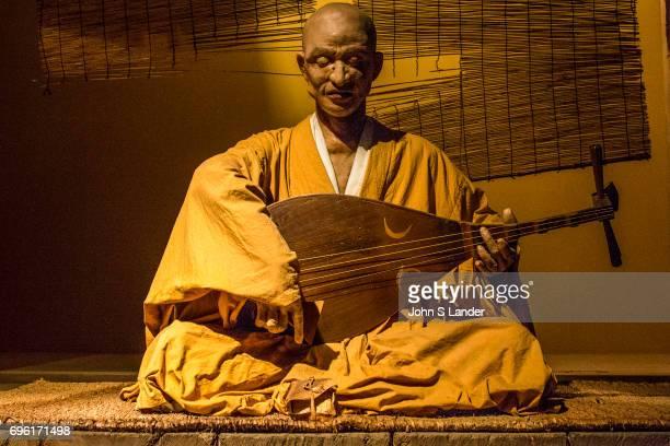 SHIKOKU TAKAMATSU KAGAWA JAPAN Lute Priest at Heike Monogatari Wax Museum The rise and fall of the Heike clan is reproduced in a massive scale using...