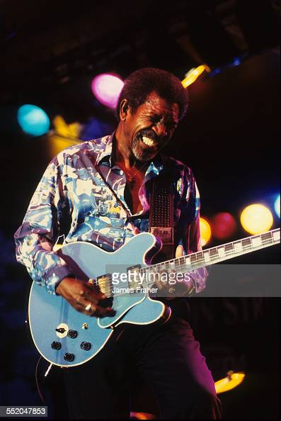 King Biscuit Blues Festival 2020.Luther Allison Performs On Stage At The King Biscuit Blues
