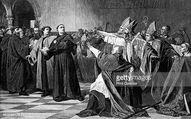 'Luther at the Diet of Worms', 1882. Martin Luther was a major inspiration behind the Reformation. He was excommunicated by Pope Leo IX in 1521 and...